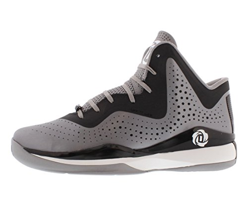 adidas D Rose 773 III Mens Basketball Shoe 11 Aluminum-Black-White