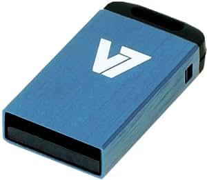 V7 VU28GCRBLU2N 8GB Blue Nano USB Flash Drive  mini Size, Stylish COLORS, Big Performance