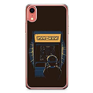 Loud Universe Pacman Old days iPhone XR Case Old Game Arena Pacman iPhone XR Cover with Transparent Edges