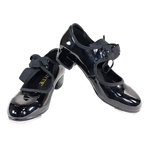 Flexibles para de Negro Mujer Grifo Danzcue Zapatos patentados wx6CR6fq