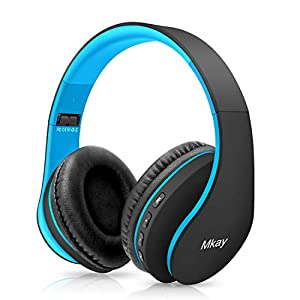 Bluetooth Headphones Wireless,MKay Boys Over Ear Headset V5.0 with Microphone, Foldable & Lightweight, Support Tf Card…
