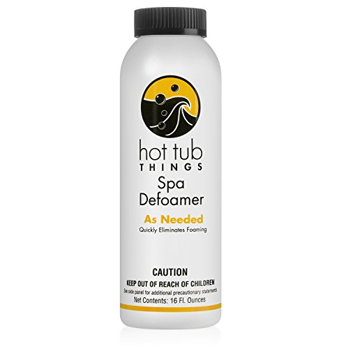 Hot Tub Things Defoamer 16 Ounce – Instantly Removes Foam From Spa Water