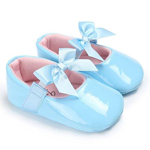 IGEMY Baby Bowknot Prinzessin weiche alleinige Schuhe, Kleinkind Freizeitschuhe Hellblau