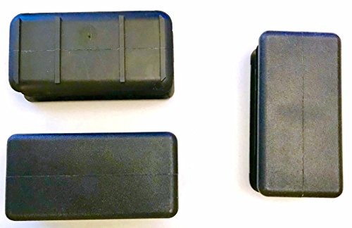 """(Pack of 4) 1"""" x 2"""" Snap In Rectangular Cap Plugs (14-23 Ga - 1.83-1.95"""" L x 0.84-0.95"""" W ID)   Fence Post Pipe Tube Insert - Furniture End Caps - Fitness Eqpt. Finishing Caps."""