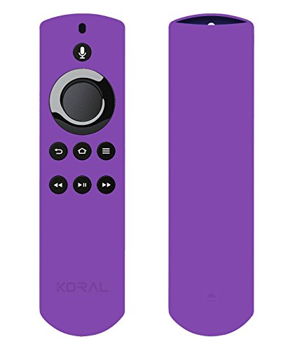 Large Product Image of Koral Case for Alexa Voice Remote for Fire TV Stick, Fire TV Streaming Media Player, and Fire TV Cube (Purple)
