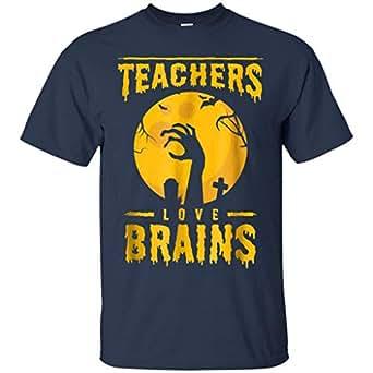 Amazon.com: Halloween Teachers Love Brains Shirt Zombie