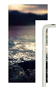 Case For Samsung Note 4 Cover Water Rocks Blur iOS7785 PC Custom Case For Samsung Note 4 Cover White