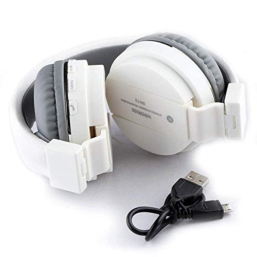 SH-12 Wireless/ Bluetooth Headphone With FM and SD Card Slot with Music and Calling Controls (Red)