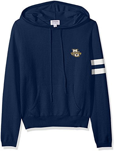 NCAA Marquette Golden Eagles Women's Campus Specialties Hooded Sweater, Navy, Large