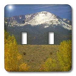 (3dRose LLC lsp_119929_2 Pikes Peak At Autumn Double Toggle Switch)