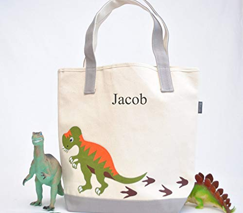 Dinosaur Tote Bag|Personalized Kids tote|T-rex Tote| for sale  Delivered anywhere in USA