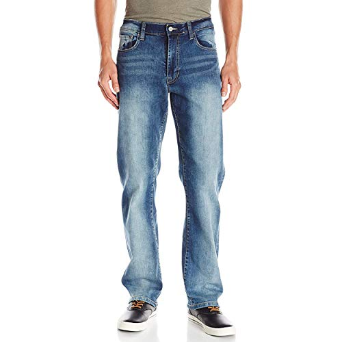 IZOD Men's Comfort Stretch Denim Jeans (Relaxed Fit), Artic, 40x32