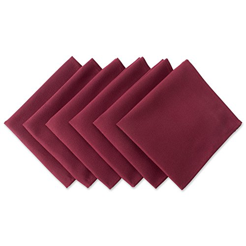 dii wrinkle resistant 20x20 polyester napkin pack of 6 wine red perfect for brunch catering events thanksgiving dinner parties showers