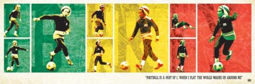 Bob Marley Football Rasta Music (Sports, Soccer) Poster Print (Bob Marley Soccer Poster)