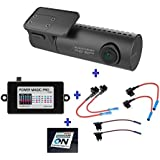 HDVD BlackVue New DR590W-1CH 32GB, Car Black Box/Car DVR Recorder, FULL HD 1080p Front, 60FPS, Built-in Wi-Fi, G Sensor, 32GB SD Card + Power Magic Pro + Fuse Tap Warning Sign Included