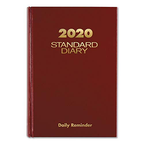 """AT-A-GLANCE 12-Month Daily Reminder Standard/Business Diary, 5-3/4"""" x 8-1/4"""", Red, January to December, AAGSD38913"""