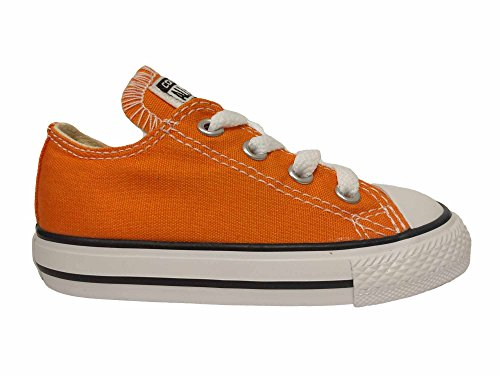 Converse Kids Toddler Boys Chuck Taylor All Star Ox Fashion Sneaker Shoe, Vivid Orange, 7