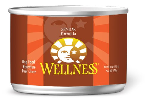 Wellness Canned Dog Food for Senior Dogs, Senior Recipe, 24-Pack of 6-Ounce Cans, My Pet Supplies