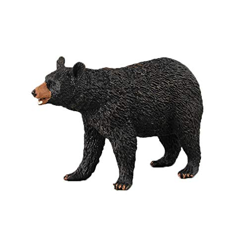 Vibola Action Figure Cute Animal Toy,Cartoon Black Bear Figurine Model Gift,Ornament Toys for Boys and Girl Kids,Realistic Animals Action Model (D) from Vibola