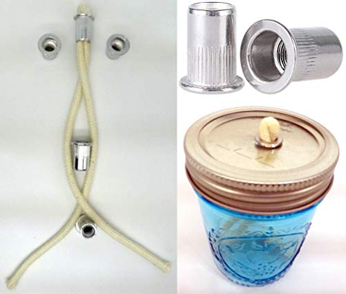 Rock Oil Lamp - 5 Stainless Steel Thermal Tube Wick Holder And 5 Pieces of 6