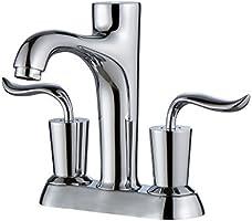 "Kraus FUS-13802CH Coda Centerset 2-Handle Bathroom Faucet, 4"", Chrome"