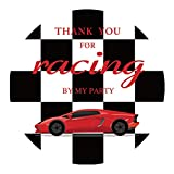 MAGJUCHE Race car Thank You Stickers, Kids Racing Car Birthday Or Baby Shower Party Sticker Labels for Favors, Decorations, 2 Inch Round, 40-Pack
