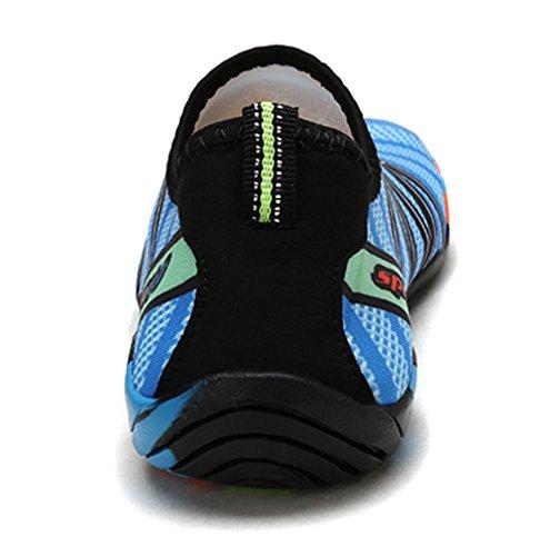 Waltzon Eau Chaussures Hommes Femmes Plage Chaussures De Natation À Séchage Rapide Aqua Chaussettes Chaussures De Piscine Pour Le Surf Yoga L.blue186