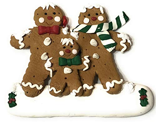 Gingerbread Family of 3 Christmas ()
