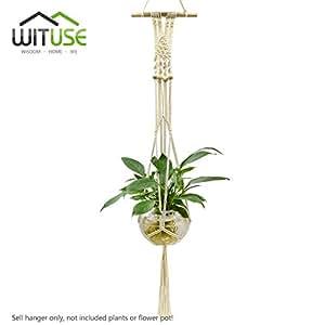 wituse Boho macramé para colgar decoración de la pared, Woven Tapestry Decoración para el hogar para la sala de estar de cocina decorativo de pared Art algodón cuerda Cord