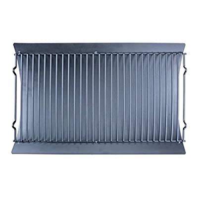 Uniflasy 20 inch Grill Replacement Parts Fire Grate Hanger & Ash/Drip Pan for Use with Chargriller 5050, 5072, 5650 Charcoal Grills
