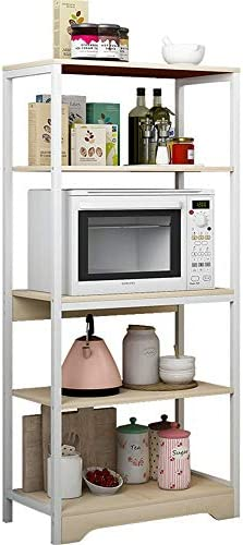 レンジ台 キッチン、ホーム、オフィスに適した4段キッチン収納ユニット万能棚 (Color : Grey, Size : 60x35x130 cm)