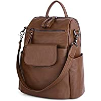 UTO Women Backpack Purse PU Washed Leather Ladies Rucksack Shoulder Bag