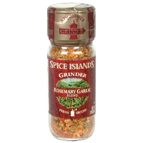 Spice Islands Grinder (Pack of 3) Choose Flavor Below (Rosemary Garlic Blend 2oz)