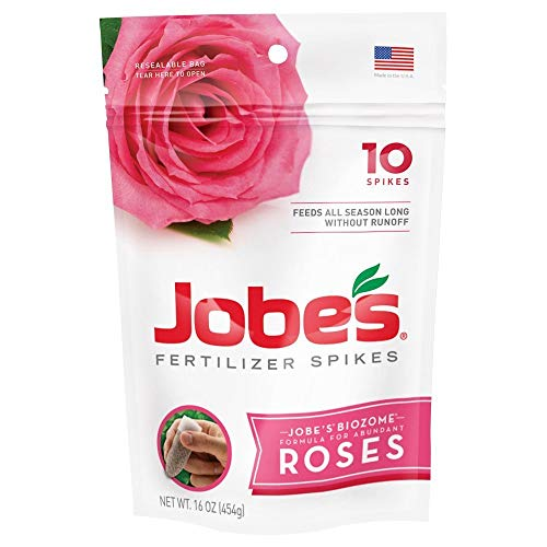 Jobe's 04102 Rose Fertilizer Spikes, 10, Multicolor (2 Pack)