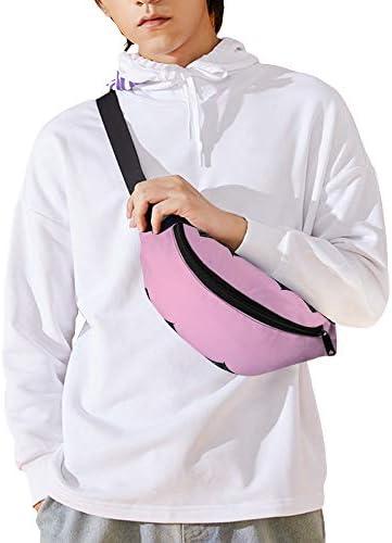 アイラッシュピンク ウエストバッグ ショルダーバッグチェストバッグ ヒップバッグ 多機能 防水 軽量 スポーツアウトドアクロスボディバッグユニセックスピクニック小旅行