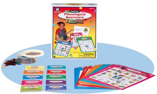 Super Duper Publications Phonological Awareness Pre-Reading & Reading Bingo Game Educational Learning Resource for Children