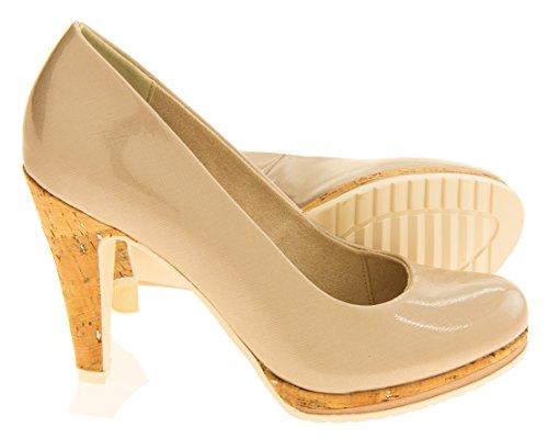 Marco Tozzi Mujer Beige Zapatos De Tacón Alto EU 41