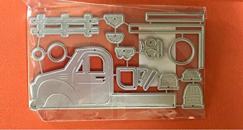 1Piece Hemere 3D Truck Frame Metal Cutting Dies Stencils for DIY Card Making Album Scrapbooking Craft Die Embossing Paper Cut Autumn Harvestdies-Cutting Dies Cut Metal Scrapbooking-Die Cut