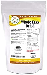 Enjoy the delicious flavor of fresh eggs any time you want! Whole Dried Eggs are a convenient alternative for any recipe that calls for eggs including; omelets, pancakes, waffles, and more. Our dehydrated Whole Eggs are made from dehydrated s...
