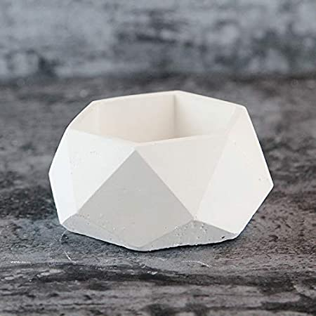 Nicole g/éom/étrique Pot de fleurs en silicone Moule /à b/éton L0148
