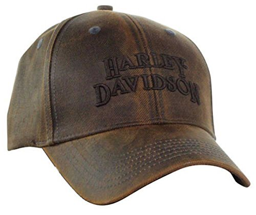 Harley-Davidson Regal Brown Stone Washed Baseball Cap Motorcycle Hat BC111439