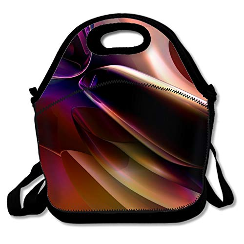 (Insulated Lunch Box Abstract Artistic Lunch Bag Large Cooler Tote Bag for Men, Women )