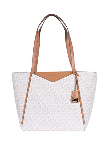 Michael Kors Whitney Ladies Large Logo Twill Tote Handbag 30S8GN1T3B150 ()