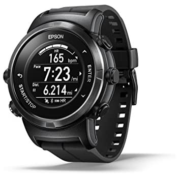 Epson ProSense 347 GPS Multisport Watch with Heart Rate and Ultra Long Battery Life - Black