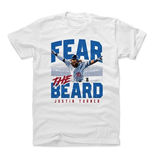 500 LEVEL Justin Turner Cotton Shirt XX-Large White - Los Angeles Baseball Men's Apparel - Justin Turner Fear The Beard B