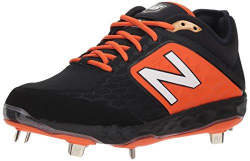 Black Plastic Cleat - New Balance Men's 3000v4 Baseball Shoe Black/Orange 9 D US