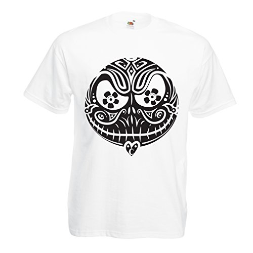T Shirts for Men The Skull Face -The Nightmare - Scary Halloween Night (XX-Large White Multi Color)