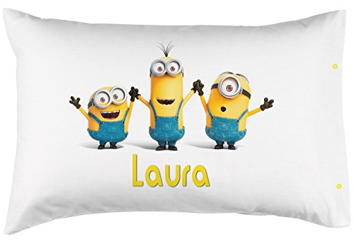 PersonalizedPillowcase Children's Minions. Customized with Your Child's Name! - Perfect Custom Gift for Children of All Ages! 100% Super Soft Microfiber! (Standard 20