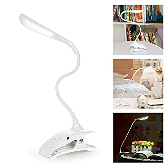 Rechargeable Fil Câble Sans Usb Réglable Led Lampe Avec Elinkum® Lecture Pince Veilleuse Bureau Micro Flexible De À Tactile TJc31lFK