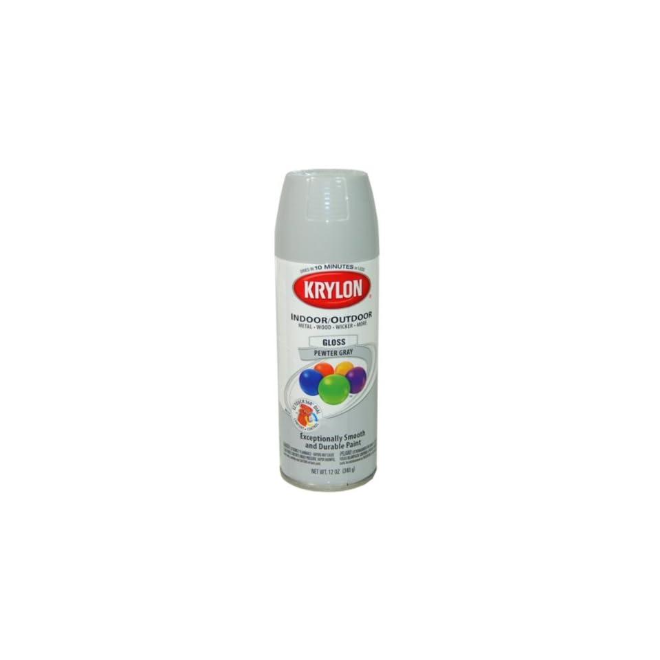 Krylon Pewter Gray Spray Paint 5 Ball Decorator Aerosol Paint